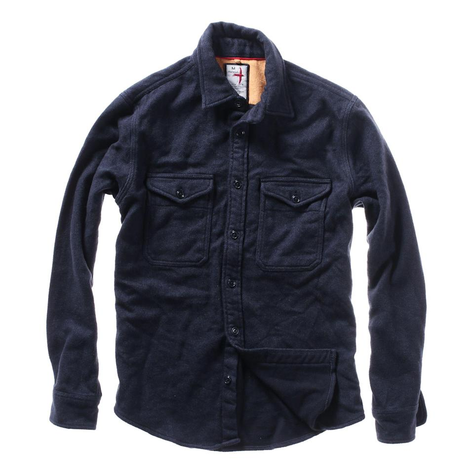 """<p><strong>Relwen</strong></p><p>huckberry.com</p><p><strong>$198.00</strong></p><p><a href=""""https://go.redirectingat.com?id=74968X1596630&url=https%3A%2F%2Fhuckberry.com%2Fstore%2Frelwen%2Fcategory%2Fp%2F63807-blanket-twill-flannel&sref=https%3A%2F%2Fwww.esquire.com%2Fstyle%2Fmens-fashion%2Fg34487003%2Fhuckberry-fall-mens-essentials%2F"""" rel=""""nofollow noopener"""" target=""""_blank"""" data-ylk=""""slk:Buy"""" class=""""link rapid-noclick-resp"""">Buy</a></p><p>Let's face it: Any product with the word """"blanket"""" in it is our collective societal kryptonite. </p>"""