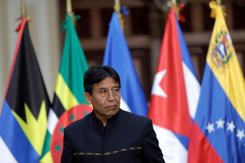 FILE PHOTO: Former Bolivian Foreign Minister David Choquehuanca attends an ALBA-TCP alliance meeting in Caracas,