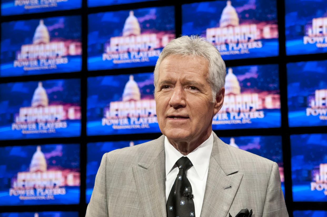 Alex Trebek (pictured in 2012) has been clean-shaven for more than a decade. (Photo: Kris Connor/Getty Images)