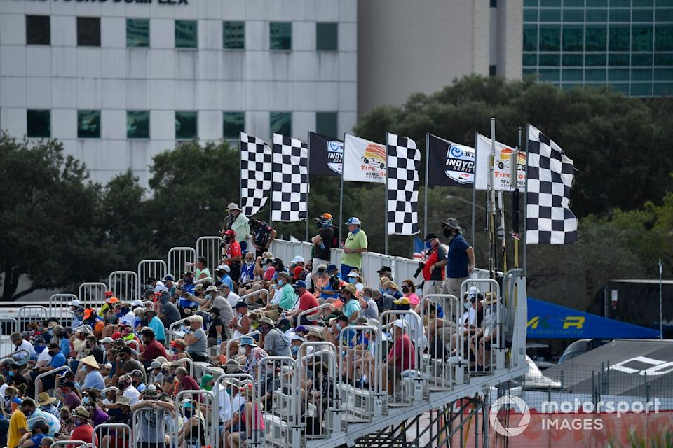"Turn 1 Crowd<span class=""copyright"">Richard Dole / Motorsport Images</span>"