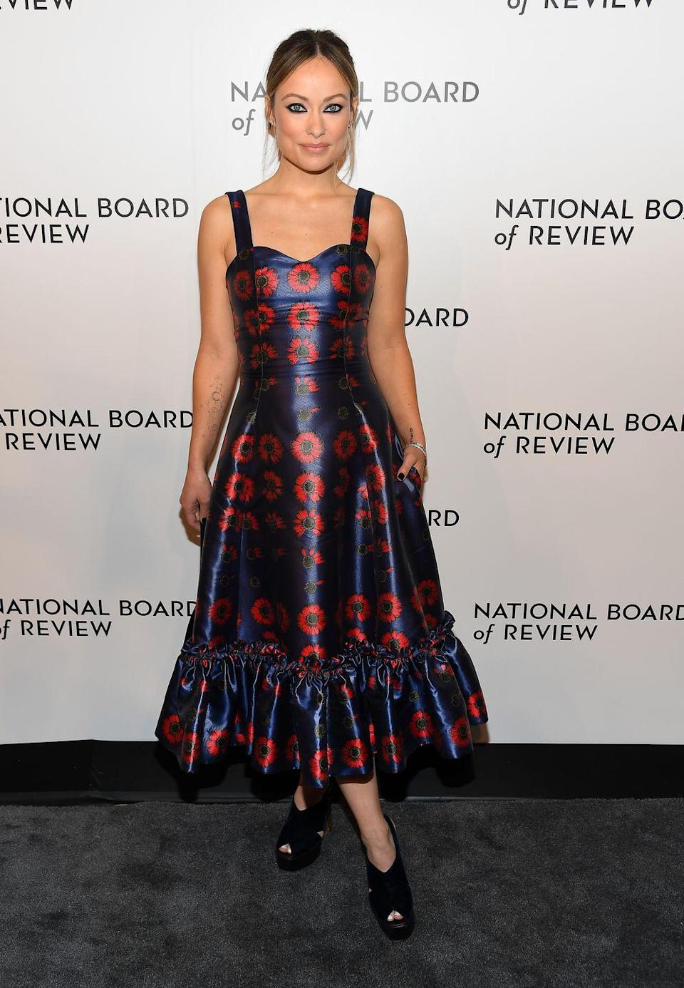 <p>The mother-of-two wore a Jonathan Cohen SS19 floral black, purple and red dress for the occasion.<br></p>