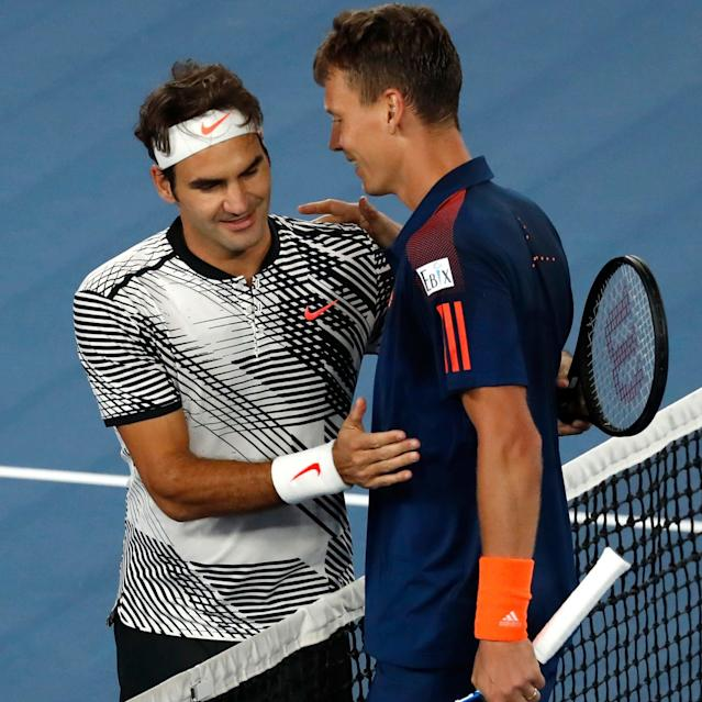 <span>Berdych was crushed by Federer at the Aussie Open</span>