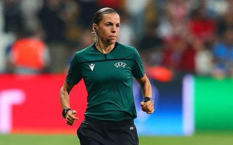 Referee Stephanie Frappart warms up prior to the UEFA Super Cup match between Liverpool and Chelsea - Credit: Getty Images