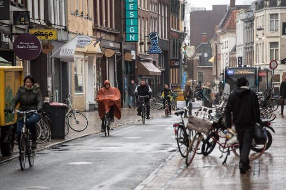 Groningen has been virtually car free since the Seventies (Getty)