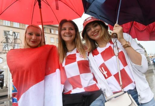 Croatia fans gather in Zagreb ahead of the World Cup final