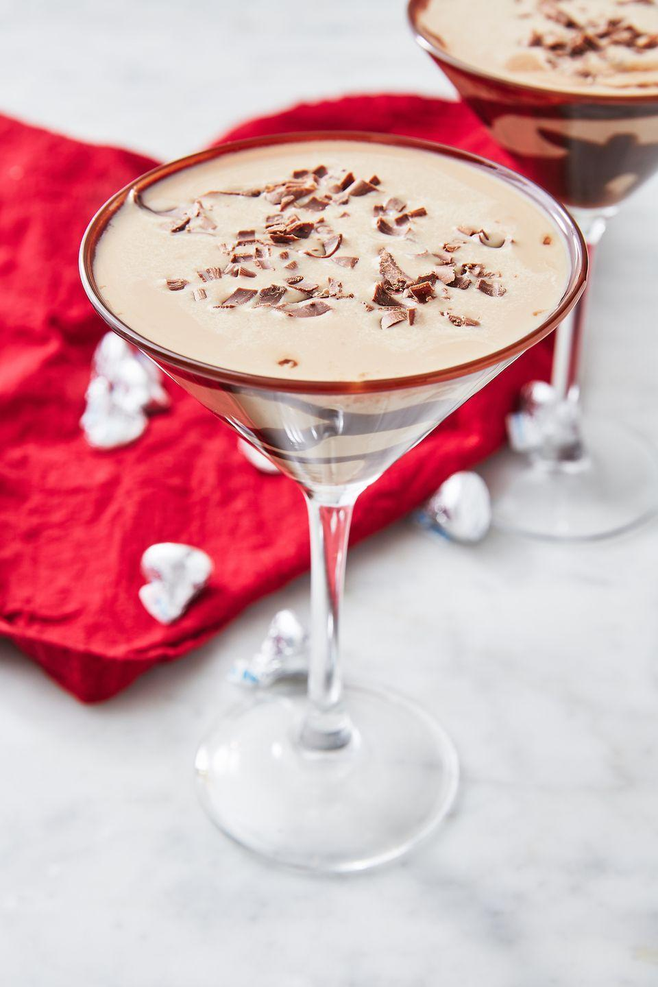 """<p>The perfect combo of boozy and sweet. </p><p>Get the recipe from <a href=""""https://www.delish.com/cooking/recipe-ideas/recipes/a228/chocolate-martini-recipe/"""" rel=""""nofollow noopener"""" target=""""_blank"""" data-ylk=""""slk:Delish"""" class=""""link rapid-noclick-resp"""">Delish</a>. </p>"""