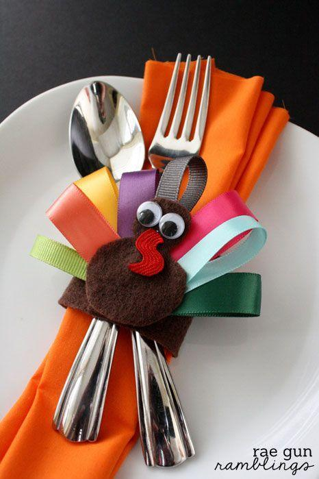 """<p>If you thought napkin holders were too sophisticated for the kids table, this adorable Thanksgiving accessory made from felt and ribbon will make you think again. </p><p><strong>Get the tutorial at <a href=""""http://www.raegunramblings.com/2013/11/turkey-napkin-rings-and-turkey-hair-clips-tutorial.html"""" rel=""""nofollow noopener"""" target=""""_blank"""" data-ylk=""""slk:Rae Gun Ramblings"""" class=""""link rapid-noclick-resp"""">Rae Gun Ramblings</a>.</strong> </p><p><a class=""""link rapid-noclick-resp"""" href=""""https://www.amazon.com/MEEDEE-Assortment-Wrapping-Decoration-Handmade/dp/B08XJWKQRR/ref=sr_1_6?dchild=1&keywords=ribbon+set&qid=1629390679&s=arts-crafts&sr=1-6&tag=syn-yahoo-20&ascsubtag=%5Bartid%7C10050.g.1201%5Bsrc%7Cyahoo-us"""" rel=""""nofollow noopener"""" target=""""_blank"""" data-ylk=""""slk:SHOP COLORFUL RIBBON SETS"""">SHOP COLORFUL RIBBON SETS</a></p>"""