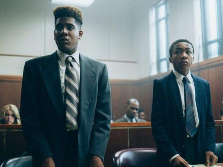 """Jharrel Jerome and Asante Blackk in """"When They See Us."""""""