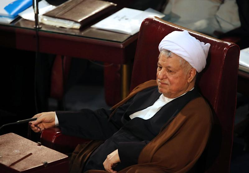 Former Iranian president Akbar Hashemi Rafsanjani attends a meeting of Iran's Assembly of Experts in Tehran on March 5, 2013 (AFP Photo/Atta Kenare)