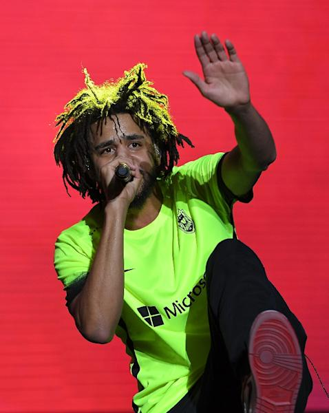 Rapper J. Cole J. Cole has devoted himself to self-reflection in his music (AFP Photo/Angela Weiss)