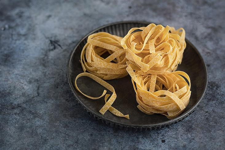 Use longer and wider types of pasta, such as tagliatelle and pappardelle.