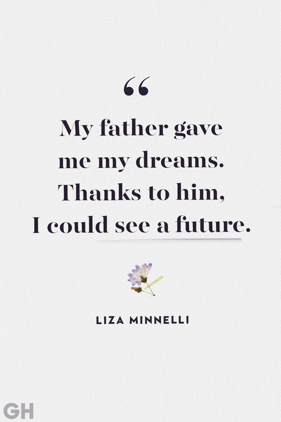 """<p>""""My father gave me my dreams. Thanks to him, I could see a future.""""</p>"""