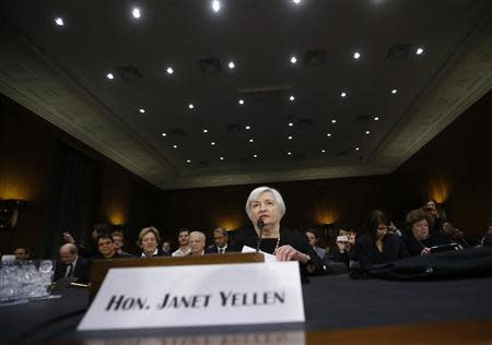 Janet Yellen, President Barack Obama's nominee to lead the U.S. Federal Reserve, is pictured at her U.S. Senate Banking Committee confirmation hearing in Washington November 14, 2013. REUTERS/Jason Reed