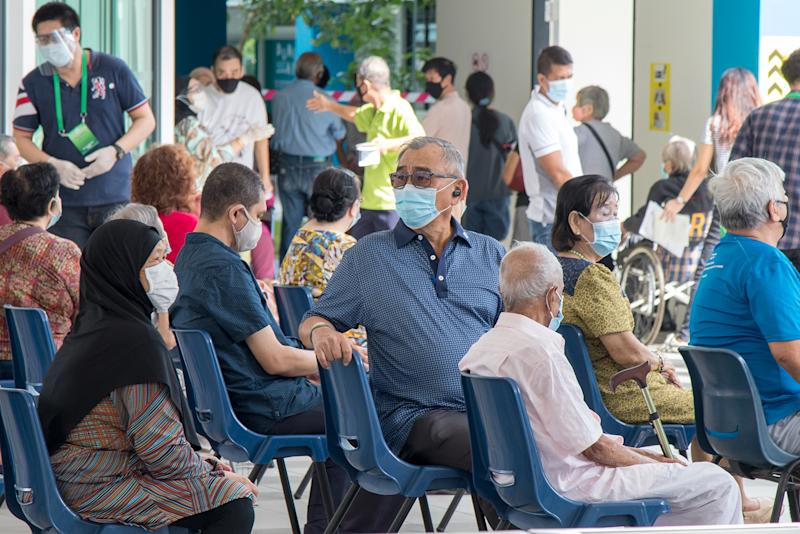 Voters seen at Dunearn Secondary School on 10 July. (PHOTO: Dhany Osman / Yahoo News Singapore)