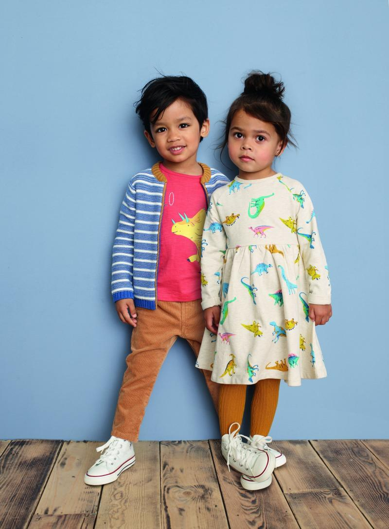 In addition to the changes in labels, John Lewis also launched a unisex baby and toddler wear line, which features dinosaur dresses, science shirts and more. (Courtesy of John Lewis)