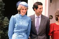 <p>One look the show did go ahead and recreate? Diana's powder blue Catherine Walker suit and matching hat.</p>