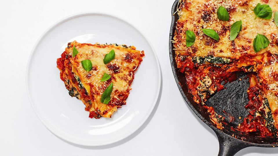 "<a href=""https://www.bonappetit.com/recipe/basically-skillet-lasagna?mbid=synd_yahoo_rss"" rel=""nofollow noopener"" target=""_blank"" data-ylk=""slk:See recipe."" class=""link rapid-noclick-resp"">See recipe.</a>"