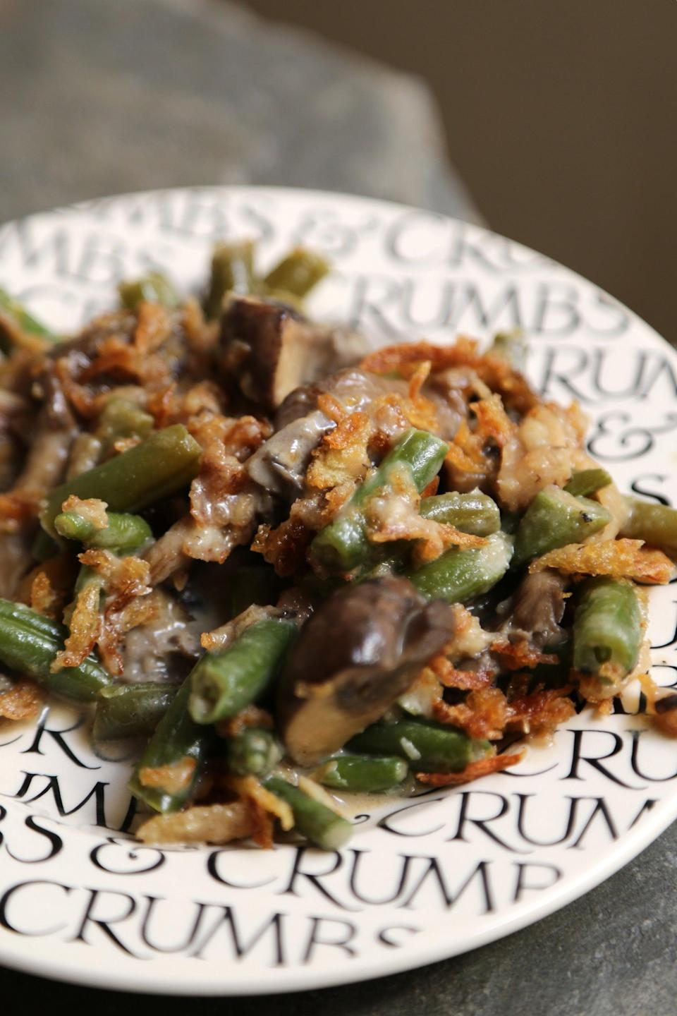 """<p>Set it and forget it with this simple recipe.</p> <p><b>Get the recipe:</b> <a href=""""https://www.popsugar.com/food/Slow-Cooker-Green-Bean-Casserole-Recipe-39177038"""" class=""""link rapid-noclick-resp"""" rel=""""nofollow noopener"""" target=""""_blank"""" data-ylk=""""slk:slow-cooker green bean casserole"""">slow-cooker green bean casserole</a></p>"""