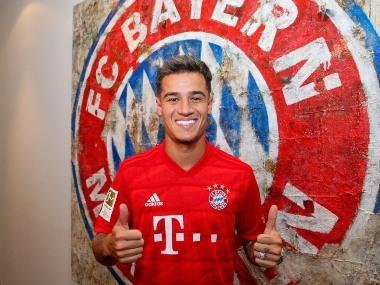Bundesliga: Bayern Munich sign Philippe Coutinho on loan from Barcelona with option to buy