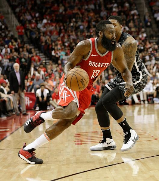 The Houston Rockets improved their league-leading record with a 129-120 victory over the Minnesota Timberwolves led by 34 points from James Harden (AFP Photo/Bob Levey)