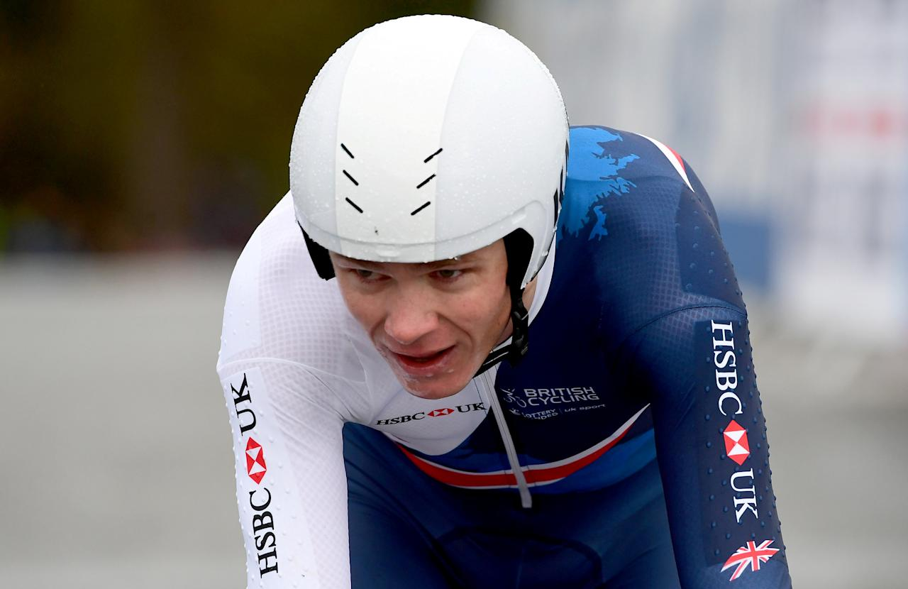 Cycling - UCI Road World Championships - Men Elite Individual Time Trial - Bergen, Norway - September 20, 2017 - Chris Froome of Britain competes. NTB Scanpix/Marit Hommedal via REUTERS ATTENTION EDITORS - THIS IMAGE WAS PROVIDED BY A THIRD PARTY. NORWAY OUT. NO COMMERCIAL OR EDITORIAL SALES IN NORWAY.