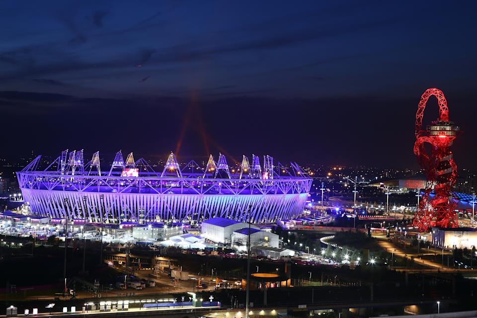 A general view of the Olympic Stadium during the closing ceremony of the 2012 London Olympic Games on August 12, 2012 in London, England. Athletes, heads of state and dignitaries from around the world have gathered in the Olympic Stadium for the closing ceremony of the 30th Olympiad. (Photo by Christof Koepsel/Getty Images)