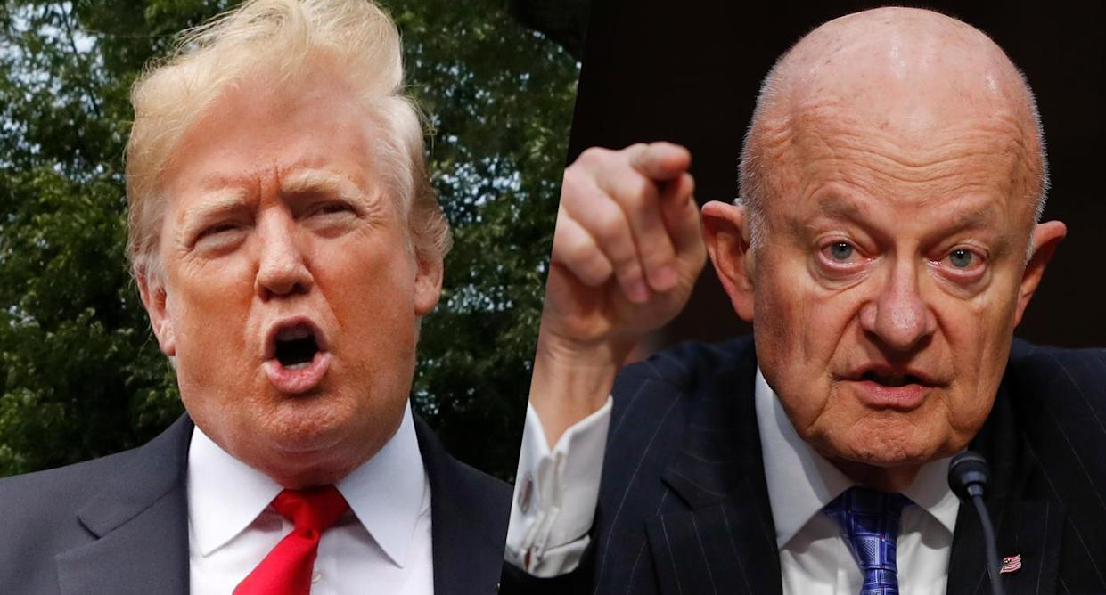 President Trump and former National Intelligence Director James Clapper. (Photos: Jacquelyn Martin/AP, Pablo Martinez Monsivais/AP)