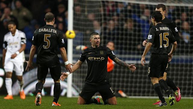 <p>Big spending Manchester City travelled to South Wales looking to continue their hunt for a second title in three years. Fernandinho fired City ahead just 15 minutes in, but Swansea were delighted when future City flop Wilfred Bony levelled on the stroke of half-time.</p> <br><p>The second half was a brilliant affair as Yaya Toure restored the lead, before Aleksandar Kolarov's superb solo run and shot sealed the three points, despite Bony firing home a second to set up a tense finish.</p>
