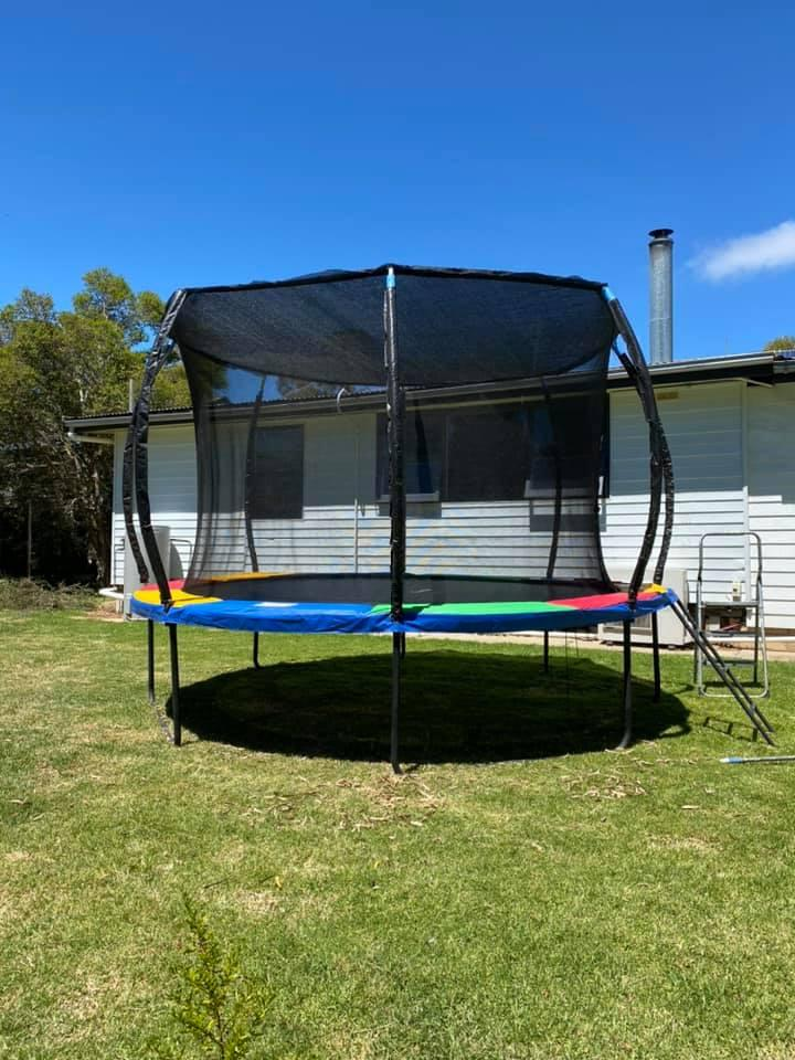One Facebook user has found a way around the issue of leaves getting into her kids' trampoline. Photo: Supplied