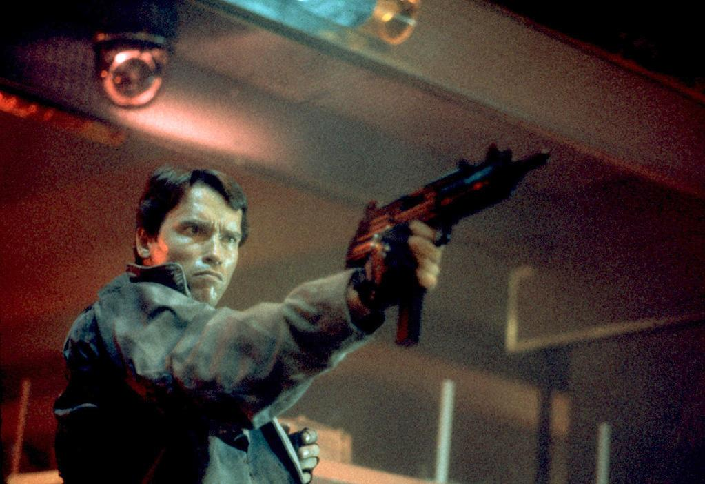 """<a href=""""http://movies.yahoo.com/movie/1800026145/info"""">THE TERMINATOR (1984)</a>   """"The Terminator appears onscreen as a mysterious being and then proceeds to introduce himself -- and us -- to a group of unwitting punks. He doesn't say much. But he doesn't need to. We've just seen the Epic (a futuristic robot) collide with the Everyday (a group of thugs) in a way that rocks your world."""""""