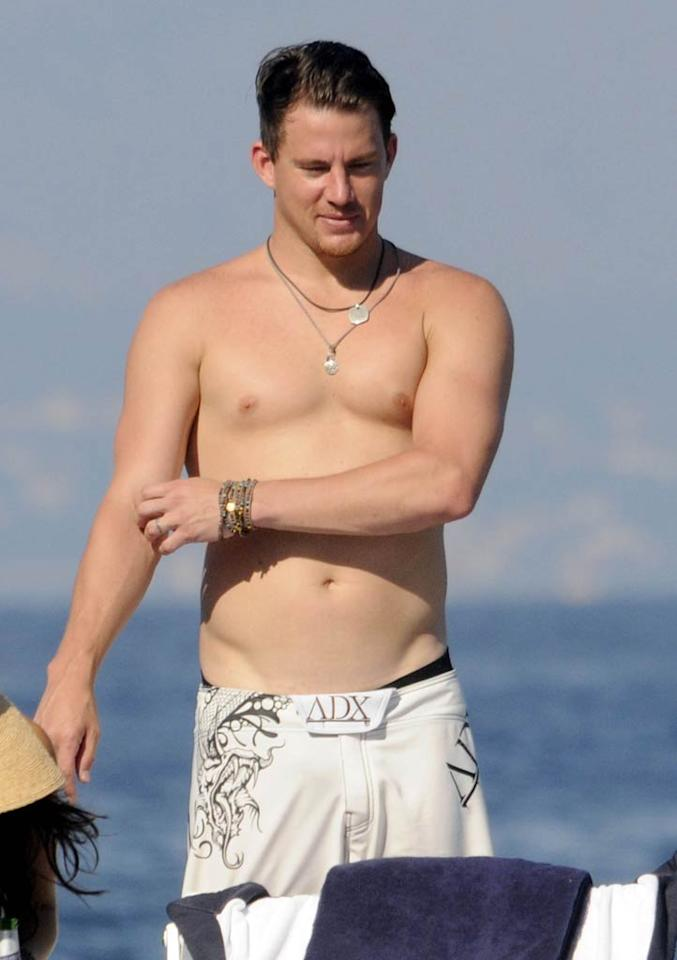 """Dear John's"" Channing Tatum has a hot beach bod ... but hands off ladies, he's taken! The actor tied the knot with his ""Step Up"" co-star Jenna Dewan on July 11, 2009 -- and it only makes us want him more! Gigi Iorio/<a href=""http://www.splashnewsonline.com"" target=""new"">Splash News</a> - July 16, 2010"