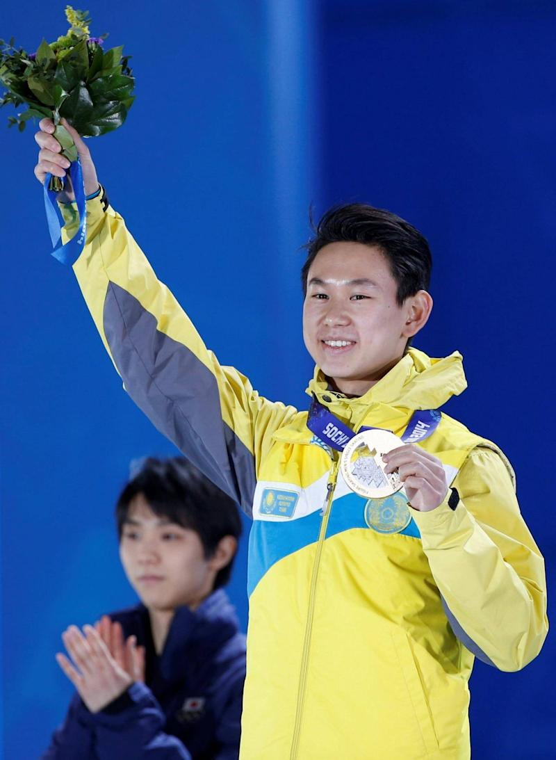 Ten won bronze at Sochi 2014, bringing home Kazakhstan's first Olympic medal, despite having to skate in mismatched boots (Reuters)
