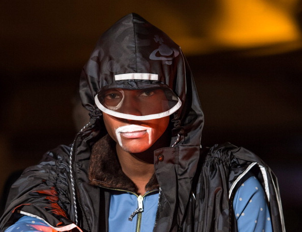 """<div class=""""caption-credit""""> Photo by: Ian Gavan/Getty Images</div>This man-makeup at the Vivienne Westwood presentation was a little more obscure: milk mustache or just zinc sunscreen for a post-apocalyptic toxic wasteland? You decide. <br>"""