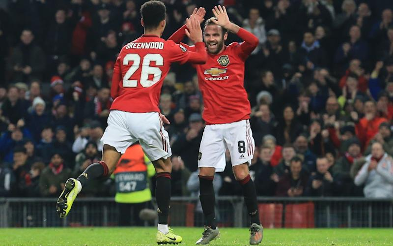 Manchester United scored four goals in 11 second half minutes to put the game beyond AZ Alkmaar - AFP