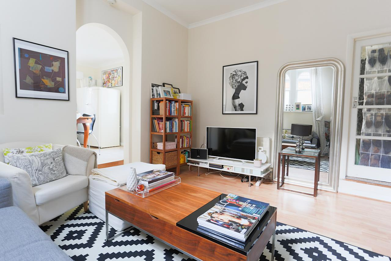 """<p>This <a rel=""""nofollow"""" href=""""https://www.airbnb.co.uk/rooms/16047863"""">one-bed apartment from £59 per night</a> is available for two guests to rent its entirety and is a short walk to Wimbledon's tennis courts. </p>"""