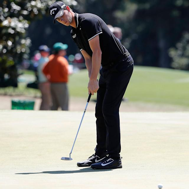 <span>Thomas Pieters makes a late charge through the field with four consecutive birdies</span> <span>Credit: ERIK S. LESSER/EPA </span>