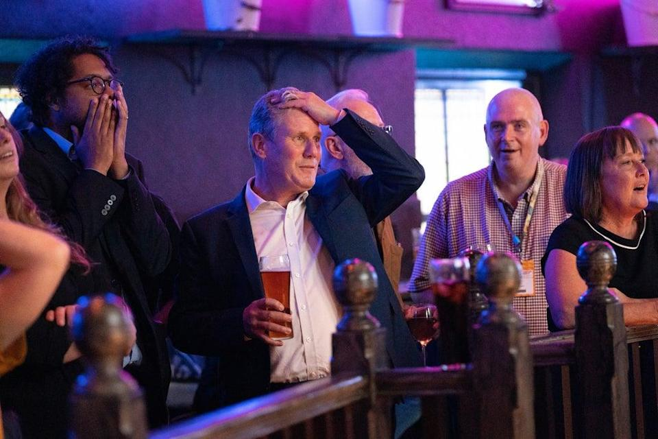 Labour Party leader Sir Keir Starmer watching the football (Stefan Rousseau/PA) (PA Wire)