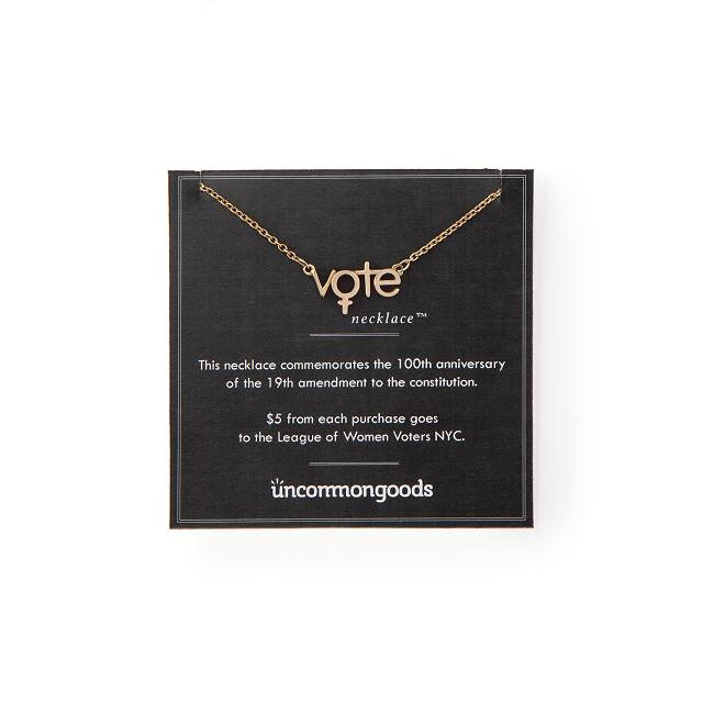 Uncommon Goods The Vote Necklace in Brass or Silver (Photo: Uncommon Goods)