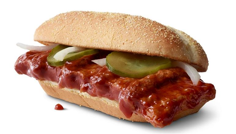 McDonald's McRib gets a lot of attention when it comes across menus every year.