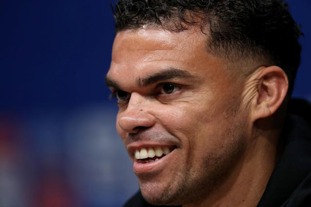Soccer Football - World Cup - Portugal Press Conference - Mordovia Arena, Saransk, Russia - June 24, 2018 Portugal's Pepe during the press conference REUTERS/Ricardo Moraes