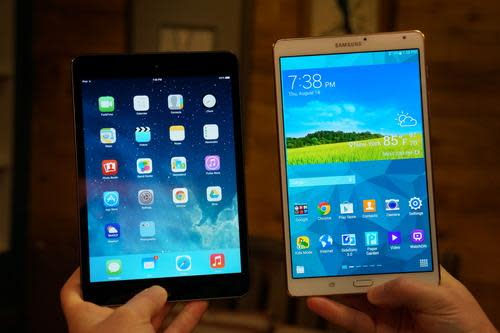 iPad mini and Samsung Galaxy Tab S 8.4