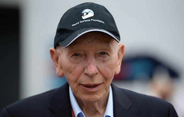 Former British F1 driver John Surtees pictured at Silverstone motor racing circuit in Silverstone, central England, on July 10, 2016, ahead of the British Formula One Grand Prix