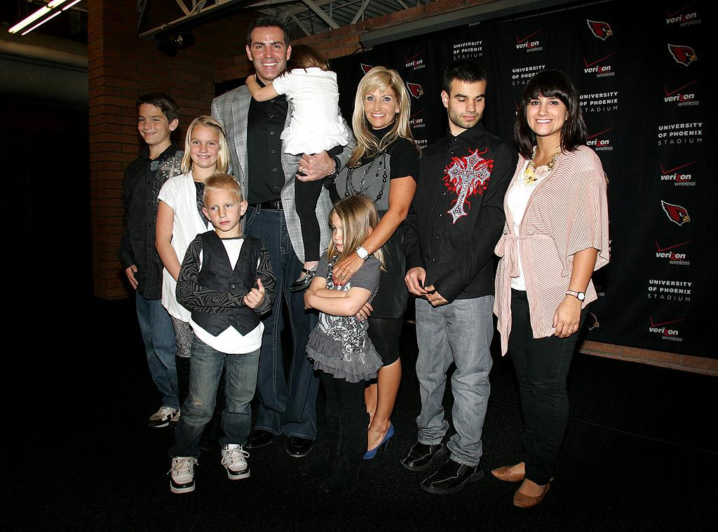 "<p class=""MsoNormal""><span style="""">NFL star Kurt Warner may have retired from football a couple of years ago, but he's not spending his retirement years kicking back … he's got seven kids to raise! He and wife of 15 years Brenda have five children together and Kurt adopted her two children from a previous marriage. But don't expect the couple to be cheering on their sons from the sidelines of the football field. The 41-year-old former quarterback, who also competed on ""Dancing With the Stars,"" has said he would prefer his kids not play football due to the danger factor. </span></p>"