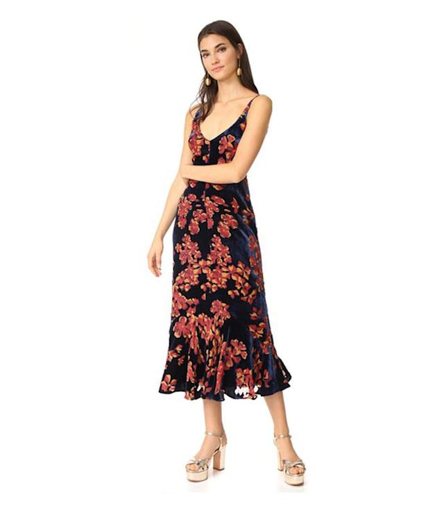 "<p>Saloni Aidan Dress, $695, <a href=""https://www.shopbop.com/aidan-dress-saloni/vp/v=1/1596025001.htm?fm=pd_sb_pd_sims_v_1&os=false"" rel=""nofollow noopener"" target=""_blank"" data-ylk=""slk:shopbop.com."" class=""link rapid-noclick-resp"">shopbop.com.</a> </p>"