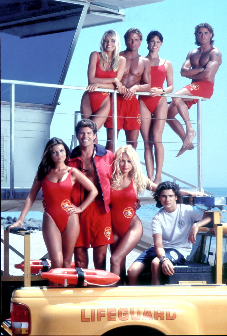 """Pantone has introduced """"Baywatch Red"""" in honor of the show's 30th anniversary. (Photo: Fremantle)"""