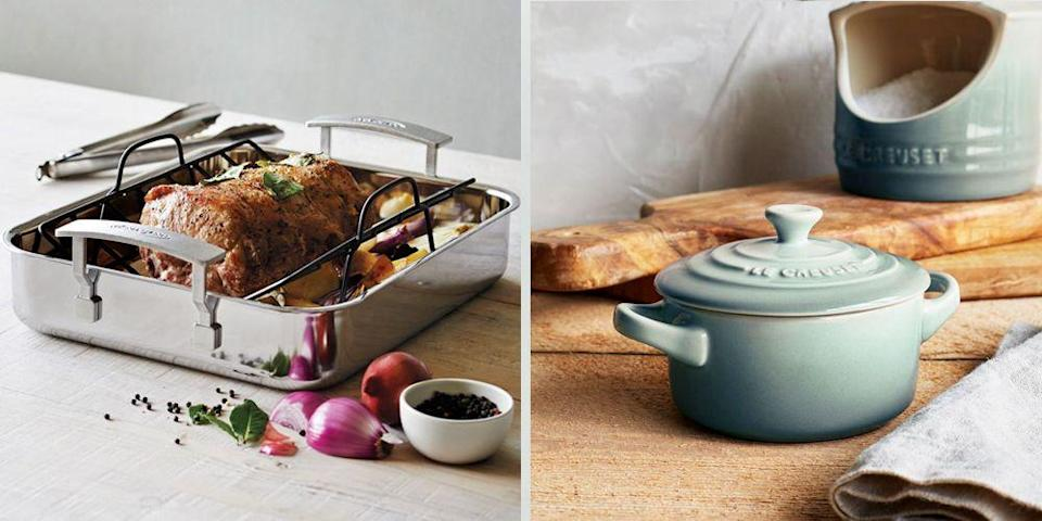 """<p>After spending the past few months cooking the <em>same</em> recipes with the <em>same </em>appliances, you might be itching to add some variety back to your culinary repertoire. Fortunately, <a href=""""https://go.redirectingat.com?id=74968X1596630&url=https%3A%2F%2Fwww.surlatable.com%2Fhome&sref=https%3A%2F%2Fwww.goodhousekeeping.com%2Flife%2Fmoney%2Fg35163408%2Fsur-la-table-sale%2F"""" rel=""""nofollow noopener"""" target=""""_blank"""" data-ylk=""""slk:Sur La Table"""" class=""""link rapid-noclick-resp"""">Sur La Table</a> is here to help. Since its founding in 1972, Sur La Table has been a one-stop-shop for all your cooking needs. And, for a limited time only, the retailer is having a huge sale on pots, pans, and so much more. From<a href=""""https://go.redirectingat.com?id=74968X1596630&url=https%3A%2F%2Fwww.surlatable.com%2Fsale%2Fcookware-sale%2F&sref=https%3A%2F%2Fwww.goodhousekeeping.com%2Flife%2Fmoney%2Fg35163408%2Fsur-la-table-sale%2F"""" rel=""""nofollow noopener"""" target=""""_blank"""" data-ylk=""""slk:50% off top cookware brands"""" class=""""link rapid-noclick-resp""""> 50% off top cookware brands</a> like <a href=""""https://go.redirectingat.com?id=74968X1596630&url=https%3A%2F%2Fwww.surlatable.com%2Fbrands%2Fle-creuset%2F&sref=https%3A%2F%2Fwww.goodhousekeeping.com%2Flife%2Fmoney%2Fg35163408%2Fsur-la-table-sale%2F"""" rel=""""nofollow noopener"""" target=""""_blank"""" data-ylk=""""slk:Le Creuset"""" class=""""link rapid-noclick-resp"""">Le Creuset</a> to deep discounts on knife sets, this sale has something for every budding home chef.</p><p> The catch? Some of these deals will end on Monday, so you'll need to shop quickly. To help, we're sharing the best items worth adding to your cart. </p>"""