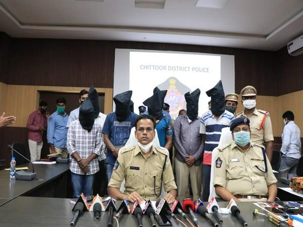 S Senthil Kumar, Superintendent of Police (SP) Chittoor during a press conference (Photo/ANI)