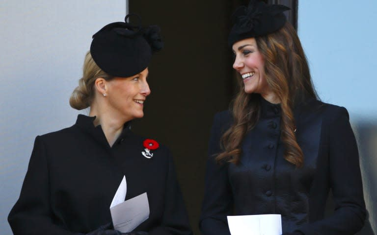 Kate Middleton and Sophie of Wessex at Remembrance Sunday