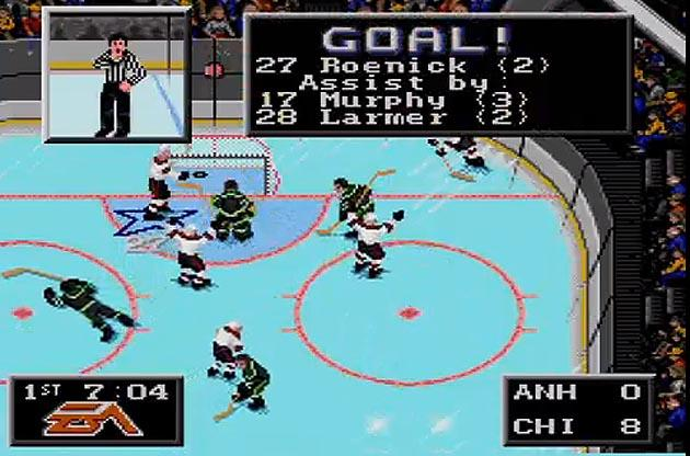 The 10 Greatest Things About Ea Sports Nhl 94 From Roenick To One Timers