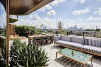 """<p><strong>The Skinny:</strong> </p><p>If you've ever been to New York City, you'll know that The Standard high line hotel is one of the most famous in Manhattan, with its prime location in Chelsea (views looking out over the Hudson river) and quirky-chic interiors. So it's nothing short of utterly delightful to know that The Standard has now opened a London franchise, in King's Cross. </p><p>Calling itself the 'upside down' hotel, the London location takes quirk to grand, new levels, with elevators that feel like something out of Stranger Things, a library stocked with all sorts of wondrous and weird literary fare and space age, but retro capsule-like rooms.</p><p><strong>Top Tip: </strong></p><p>If you like space to stretch out and enjoy the fresh air, then book yourself a King's Terrace room on the 8th floor. The terrace rooms come complete with mini-bar, lounge area, access to the outdoor terrace and even a bathtub on your balcony for those that like to bathe al fresco.</p><p><a class=""""link rapid-noclick-resp"""" href=""""https://www.standardhotels.com/london/"""" rel=""""nofollow noopener"""" target=""""_blank"""" data-ylk=""""slk:Book The Standard, London - Rooms start at £167"""">Book The Standard, London - Rooms start at £167 </a></p>"""